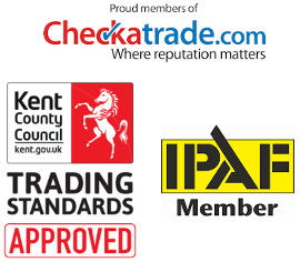 Gutter cleaning accreditations, checktrade, Trusted Trader, IPAF in Sittingbourne